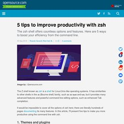 5 tips to improve productivity with zsh