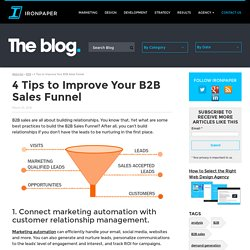 4 Tips to Improve Your B2B Sales Funnel