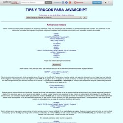 Tips para Javascript