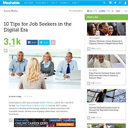 10 Tips for Job Seekers in the Digital Era