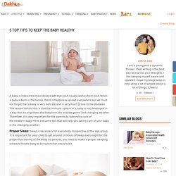 5 Top Tips To Keep The Baby Healthy – Just dakhila