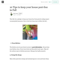 10 Tips to keep your house pest-free in Fall - Mike Travers - Medium