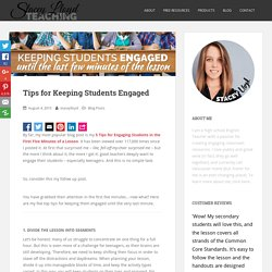 Tips for Keeping Students Engaged