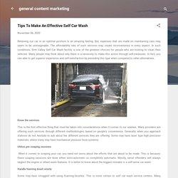 Tips To Make An Effective Self Car Wash