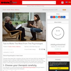 Tips to Make The Most From The Psychologist Article