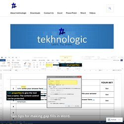 Two tips for making gap fills in Word. – tekhnologic