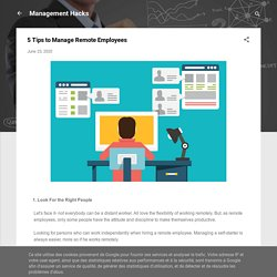 5 Tips to Manage Remote Employees