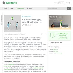 3 Tips For Managing Your Next Project in Evernote