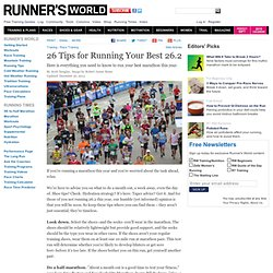 26 Tips for Your Best Marathon