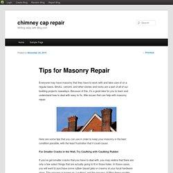 Tips for Masonry Repair