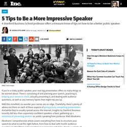 5 Tips to Be a More Impressive Speaker