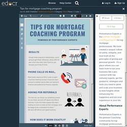 Tips for mortgage coaching program