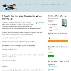 6 Tips to Get the Most Swagbucks When Signing Up