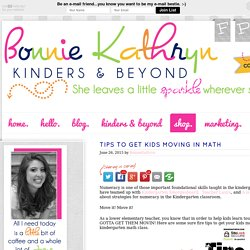 Tips to Get Kids Moving in Math - Bonnie Kathryn