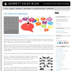 Top 10 Tips when Negotiating | Barrett Sales Blog
