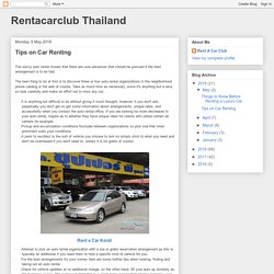 Tips on Car Renting