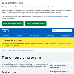 Tips on surviving exams