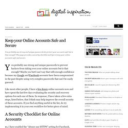 Tips to Keep your Online Accounts Safe and Secure