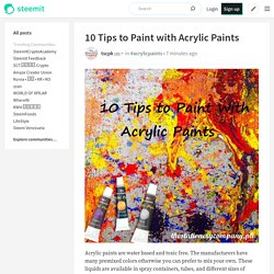 10 Tips to Paint with Acrylic Paints