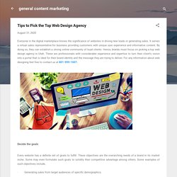 Tips to Pick the Top Web Design Agency