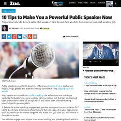10 Tips to Make You a Powerful Public Speaker Now