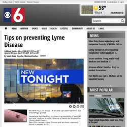 Tips on preventing Lyme Disease