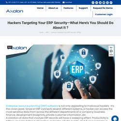 4 tips that will help you protect your ERP software