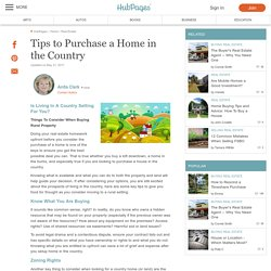 Tips to Purchase a Home in the Country