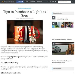 Tips to Purchase a Lightbox Sign