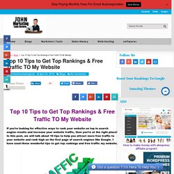 The Best Side of Free Traffic to My Website
