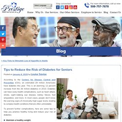 Tips to Reduce the Risk of Diabetes for Seniors