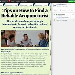 Tips on How to Find a Reliable Acupuncturist