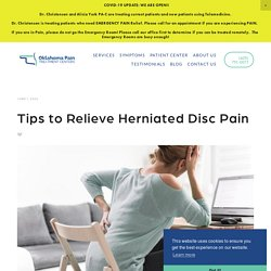 Tips to Relieve Herniated Disc Pain