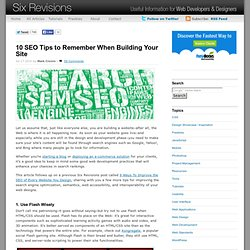 10 SEO Tips to Remember When Building Your Site
