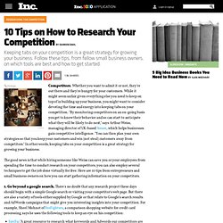 10 Tips on How to Research Your Competition