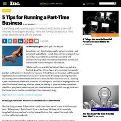 5 Tips for Running a Part-Time Business