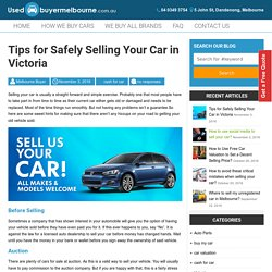 Tips for Safely Selling Your Car in Victoria -