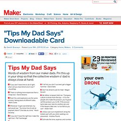 """Tips My Dad Says"" Downloadable Card"