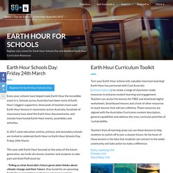 Tips for Schools - Earth Hour Australia 2017