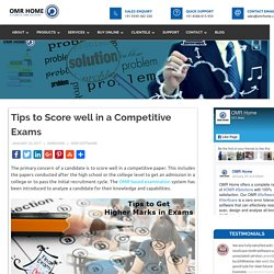 Tips to Score well in a Competitive Exams - OMR Home