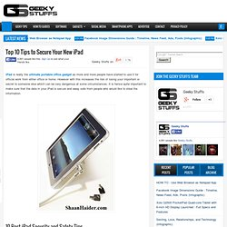 Top 10 Tips to Secure Your New iPad