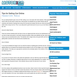 Tips for Selling Car Online