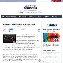 3 Tips for Setting Up an Advisory Board | Small Business Trends