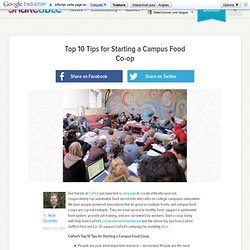 Top 10 Tips for Starting a Campus Food Co-op