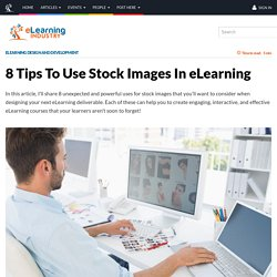 8 Tips To Use Stock Images In eLearning