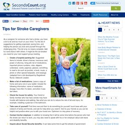 Tips for Stroke Caregivers