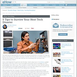 5 Tips to Survive Your Next Tech Disaster | eHow Tech