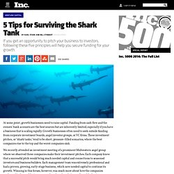 5 Tips for Surviving the Shark Tank