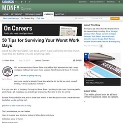 50 Tips for Surviving Your Worst Work Days