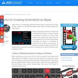 How to Screenshot Skype Conversations